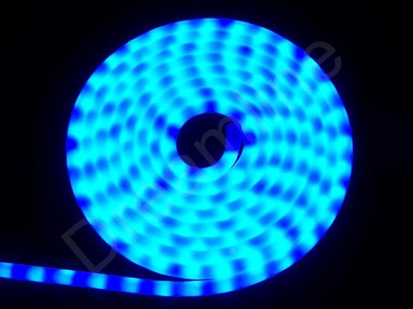 LED Schlauch BLau Horizontal Meterware milchig