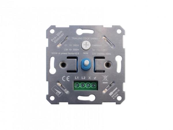 LED Phasenabschnittsdimmer für Wandmontage mit Abdeckung max. 300 Watt