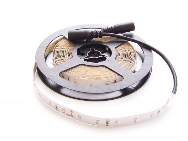 24V LED Stripe 2216 500cm Kaltweiß IP20 mit beidseitigen DC Steckern und High Cri