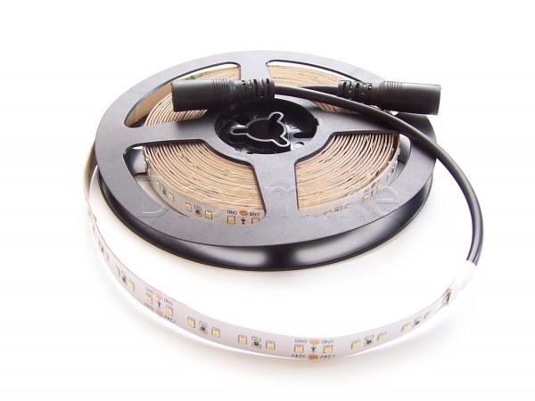 24V LED Stripe 2216 500cm Warmweiß IP20 mit beidseitigen DC Steckern und 600 LEDs