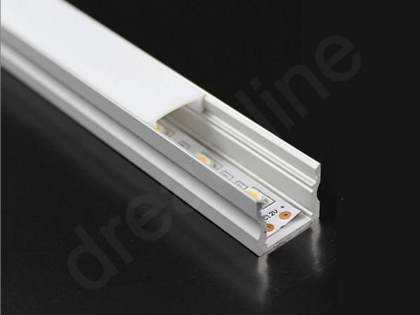 LED Alu Profil Aufbau TM15 OHNE LED Stripes
