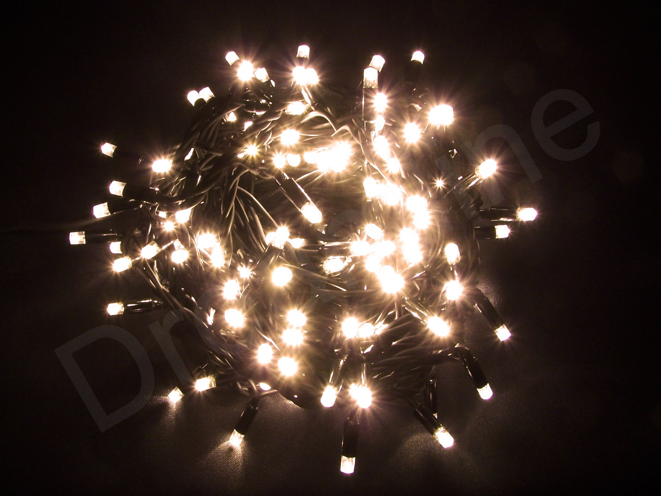 Led Weihnachtsbeleuchtung Ohne Kabel.Led Lichterkette Warm Weiß 20m 200 Leds
