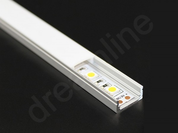 LED Alu Profil Aufbau TM15 OHNE LED Stripes
