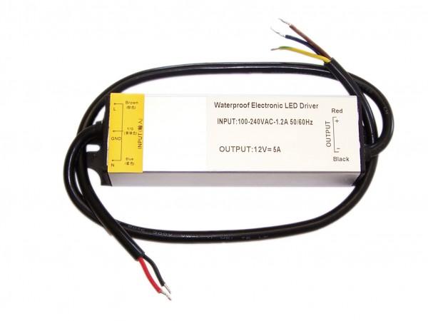 12V Outdoor Netzteil mit 60 Watt in IP67