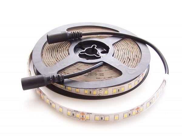 24V LED Stripe 2835 500cm Warmweiß IP65 mit beidseitigen DC Steckern & 600 LEDs