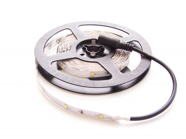 LED Stripe 2835 500cm Warmweiß IP20 mit einseitigem DC Steckern