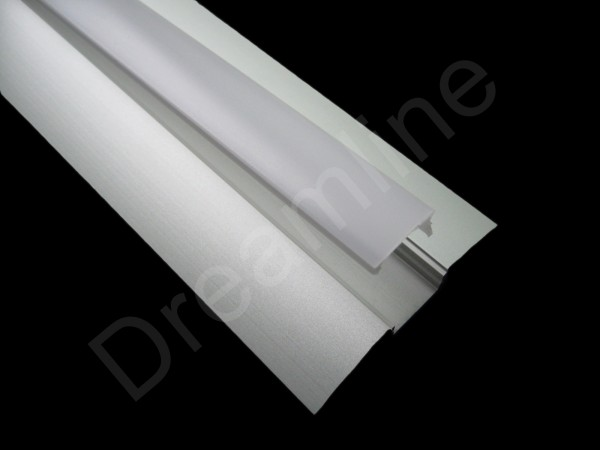 LED Alu Profil Flach OHNE LED Stripes