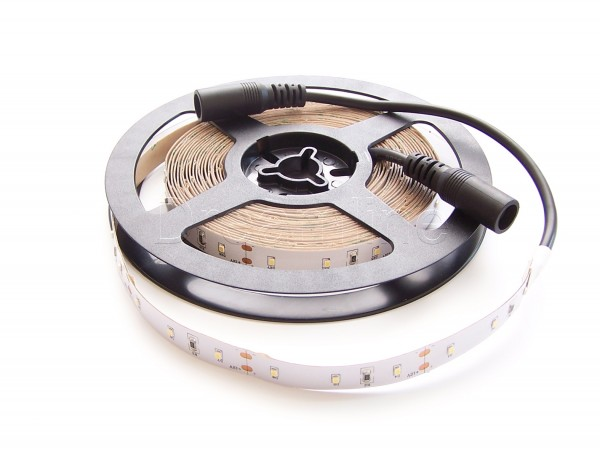 LED Stripe 2216 500cm Kaltweiß IP20 mit beidseitigen DC Steckern und High Cri