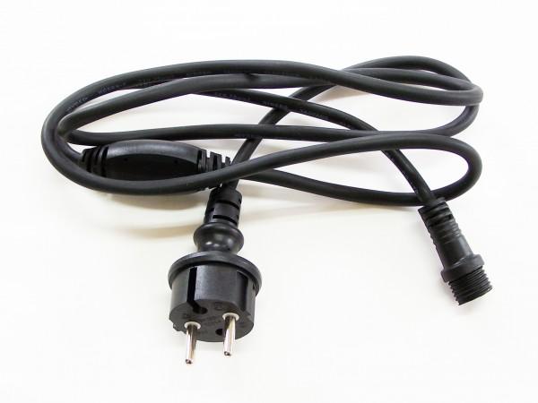 Einspeisestecker schwarz 230V