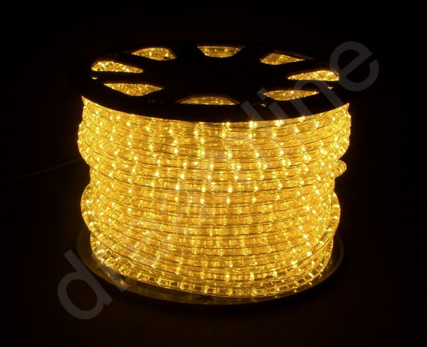 LED Schlauch Amber Horizontal Meterware