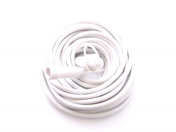 Verlängerung 10m weiß für LED Lichtervorhänge, LED Lichterketten und LED Giebelvorhänge