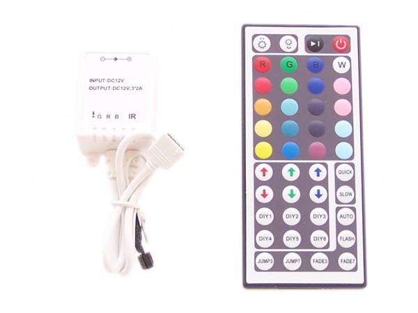 44 Tasten RGB Controller mit Infrarot - Reichweite ca. 8m, programmierbar