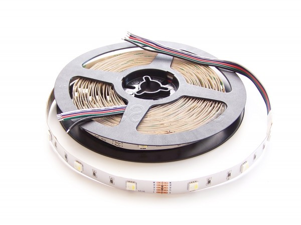 RGB-WW LED Stripe in 12V mit 150 LEDs auf 5m Rolle in IP20 Ausführung