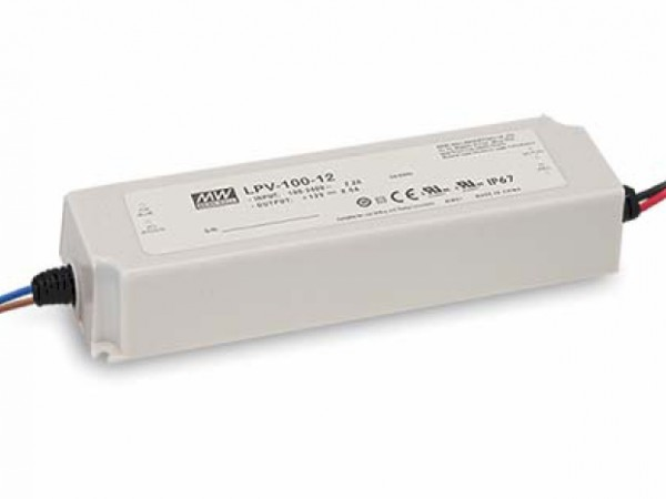 24V Meanwell Netzteil 100W Outdoor IP67