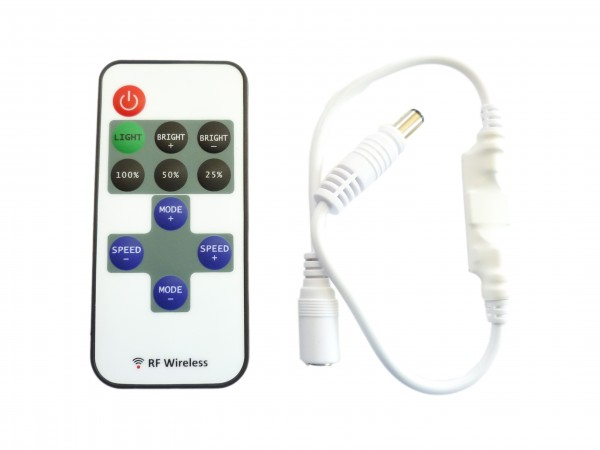 12V 24V LED Funk DImmer Controller mit DC Steckern