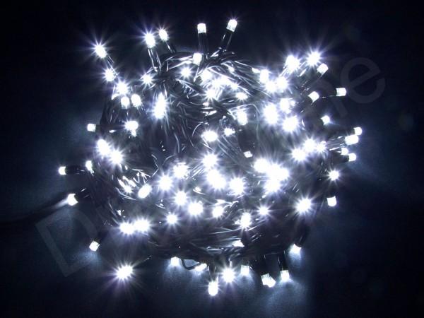 LED Lichterkette Kaltweiß mit 20m und 100 LEDs und schwarzem Kabel