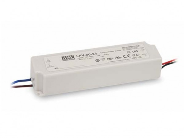24V Meanwell Netzteil 60W Outdoor IP67