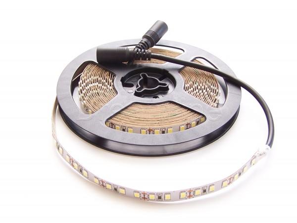 LED Stripe 2835 500cm 600 LEDs Kaltweiß IP20 mit beidseitigen DC Steckern