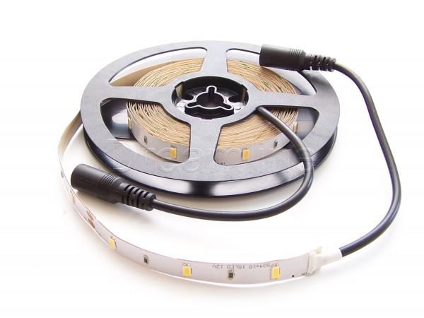 LED Stripe 5630 500cm Warmweiß IP20 mit beidseitigen DC Steckern