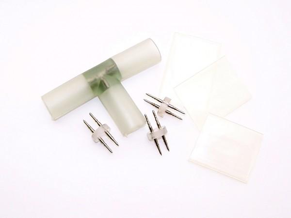 T-Stück für LED Schläuche inklusive PINS und Schrumpfschlauch