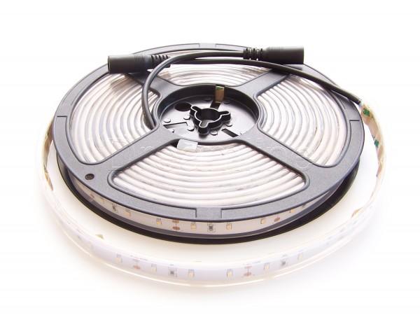 LED Stripe 2216 500cm 300 LEDs Kaltweiß IP67 mit beidseitigen DC Steckern und hohem Farbwiedergabewert
