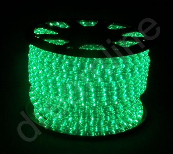 LED Lichtschlauch Grün - 50m Rolle - horizontale LEDs