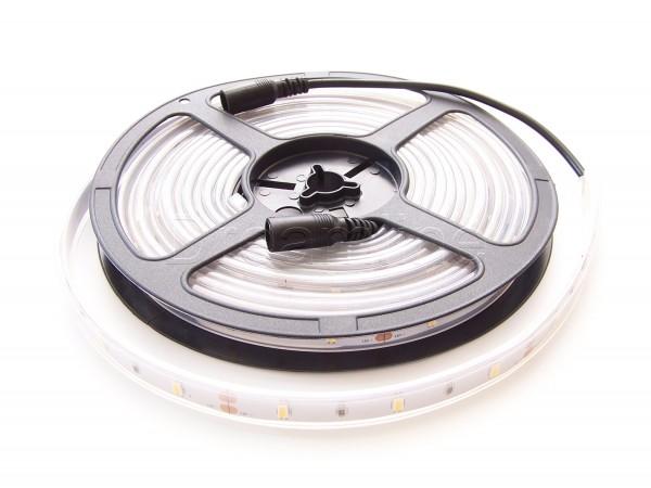 LED Stripe 5630 500cm 150 LEDs Warmweiß IP67 mit beidseitigen DC Steckern und High Cri