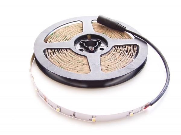 LED Stripe 3528 500cm Warmweiß IP20 mit beidseitigen DC Steckern