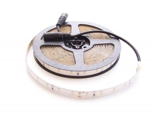 24V LED Stripe 2216 500cm Warmweiß IP65 mit beidseitigen DC Steckern und High Cri