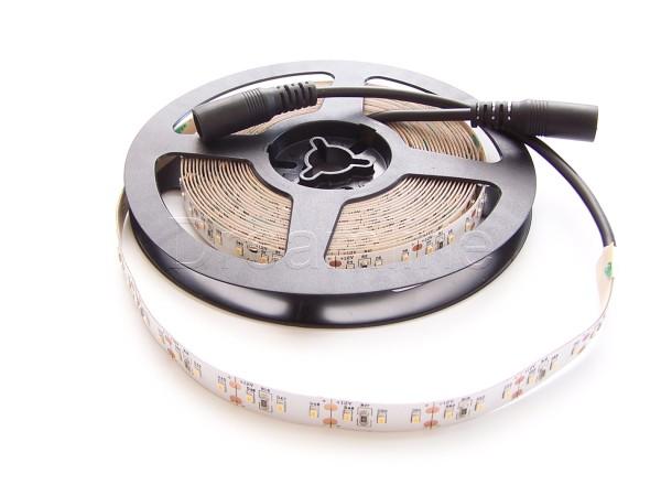 12V LED Streifen 500cm Warmweiß IP20 mit hohem Farbwiedergabewert und beidseitigen DC Steckern