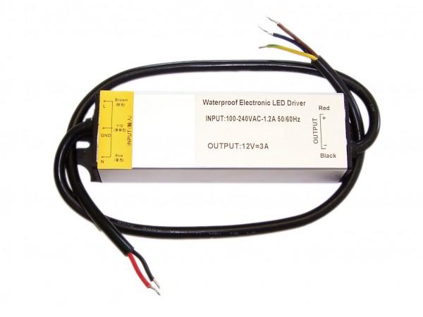 12V Outdoor Netzteil mit 36 Watt