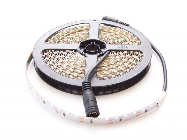 Sideview LED Stripe 3014 500cm Warmweiß IP20 mit beidseitigen DC Steckern