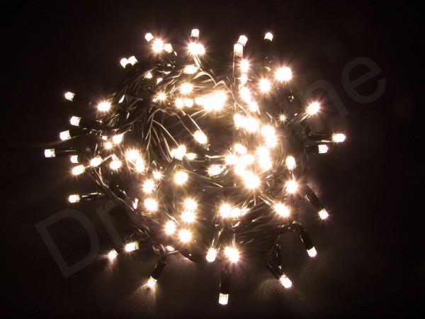LED Lichterkette Warmweiß mit 20m und 200 LEDs und schwarzem Kabel