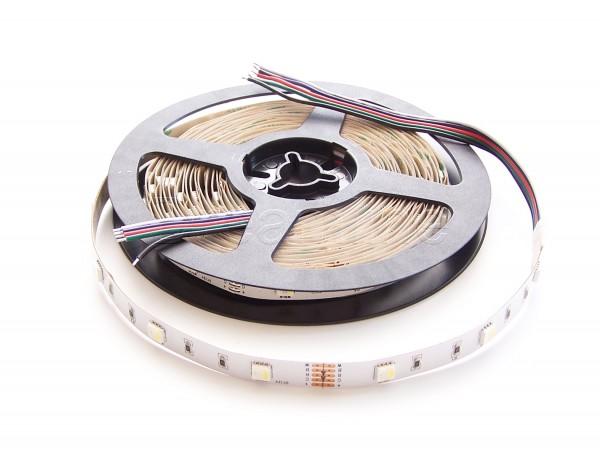 RGB-W LED Stripe in 12V mit 150 LEDs auf 5m Rolle in IP20 Ausführung