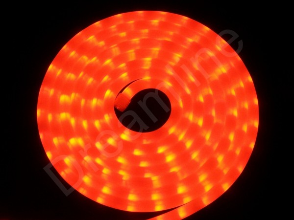LED Schlauch Rot Horizontal Meterware milchig