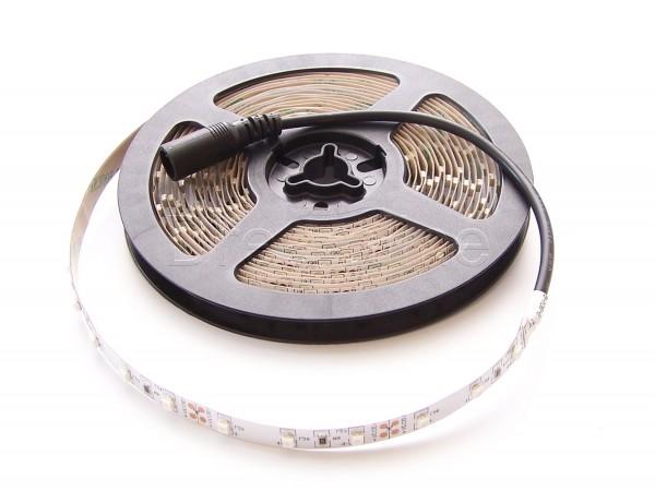 LED Stripe 3528 500cm Grün IP20 mit beidseitigen DC Steckern