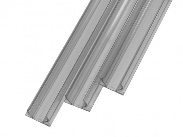 100cm transparente PVC Schiene für LED Schläuche und LED Stripes 230V DC